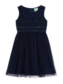 Uttam Sequin Lace Party Dress