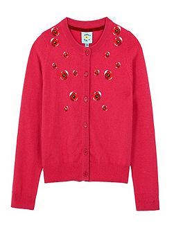 Poppy Embroidery Cardigan