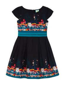 Girls Forest Print Dress