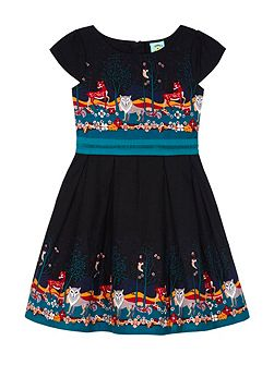 Uttam Girls Forest Print Dress