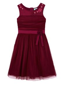 Uttam Mesh Rose Party Dress