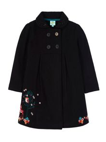 Girls Forest Animals Embroidered Coat