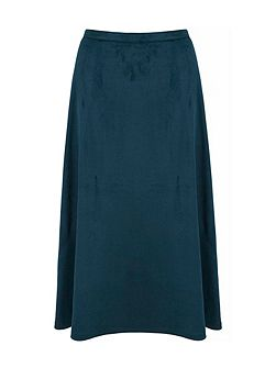 Faux Suede Midi Skirt