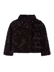 Yumi Girls Girls Asymmetric Faux Fur Jacket