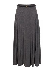 Yumi Long Pleated Maxi Skirt