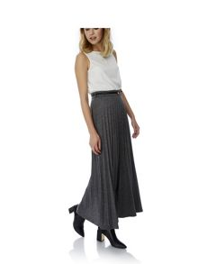 Long Pleated Maxi Skirt