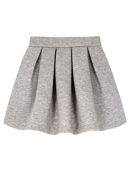 Yumi Girls Neoprene Box Pleat Skater Skirt