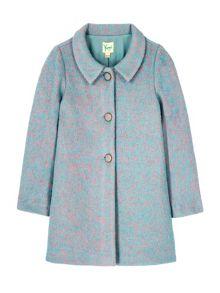 Yumi Girls Vintage Fleck Swing Coat