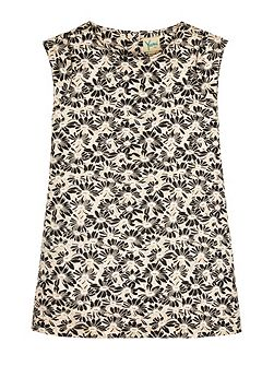 Girls Floral Jacquard Shift Dress