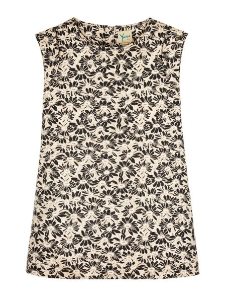 Yumi Girls Girls Floral Jacquard Shift Dress
