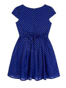 Foil Polka Dot Party Dress
