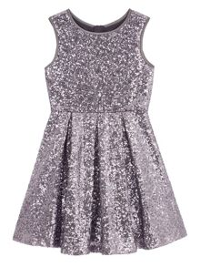 Girls Sequin Skater Dress