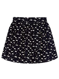 Girls Cat Print Skater Skirt