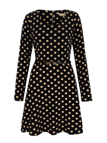Yumi Polka Dot Print Skater Dress