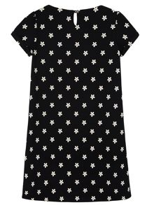 Girls Daisy Print Shift Dress