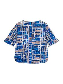 Yumi Girls Girls Notting Hill Print Shell Top