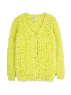 Fluffy Cable Cardigan