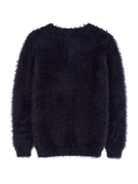 Yumi Girls Girls Fluffy Cable Cardigan