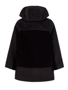 Yumi Girls Girls Two Tone Double Breasted Hood Coat