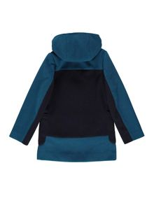 Yumi Girls Two Tone Double Breasted Hood Coat