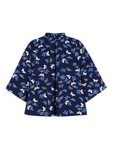 Yumi Girls Butterfly Print Jacket