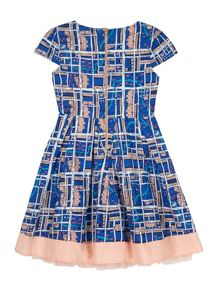 Yumi Girls Notting Hill Print Box Pleat Dress