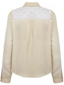 Uttam Boutique Sheer Butterfly Shirt