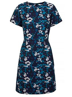 Midnight Floral Print Shift Dress