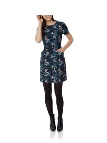 Uttam Boutique Midnight Floral Print Shift Dress