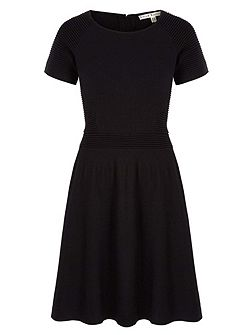 Ribbed Knitted Jumper Dress