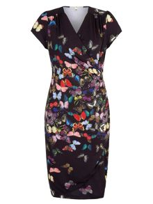 Butterfly  Wrap Dress
