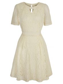 Uttam Boutique Lace Keyhole Tea Dress