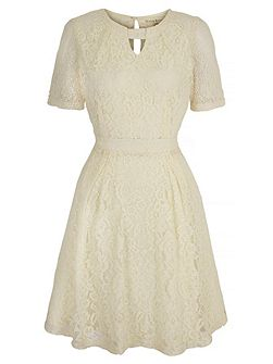 Lace Keyhole Tea Dress
