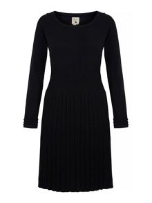 Yumi Pleated Knitted Jumper Dress