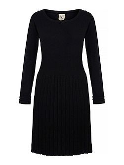 Pleated Knitted Jumper Dress