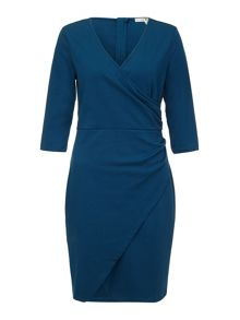 Uttam Boutique Ponte Notch Wrap Dress