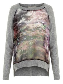 Uttam Boutique Maple Leaf Print Jumper