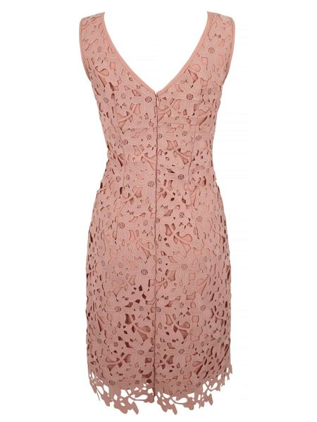 Uttam Boutique Crochet Lace Party Dress