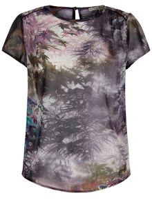 Uttam Boutique Maple Leaf Print Top
