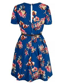 Uttam Boutique Oriental Floral Print Tea Dress