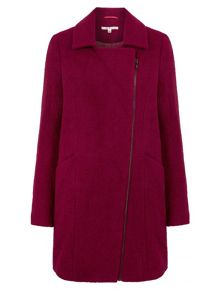 Uttam Boutique Textured Biker Coat