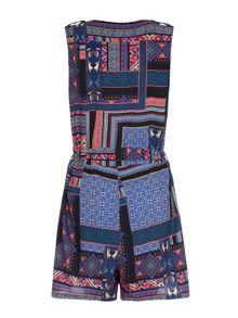 Patchwork Print Playsuit