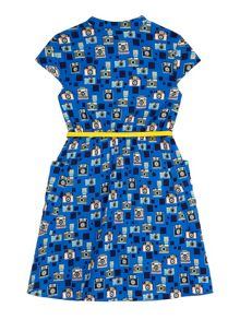 Yumi Girls Camera Print Shirt Dress