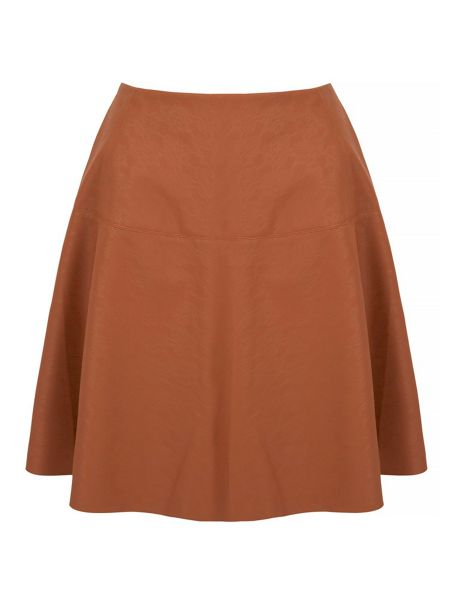 Yumi Faux Leather Skirt