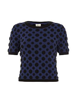 Polka Dot Cropped Jumper