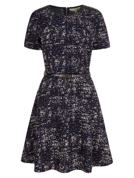 Yumi Paint Fleck Print Dress