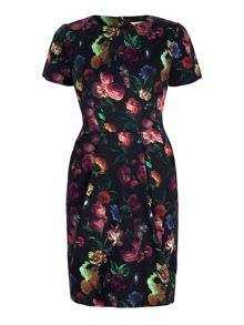 Yumi Floral Print Fitted Dress