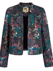 Structured Print Jacquard Jacket