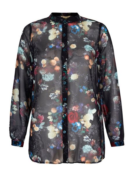 Yumi Winter Floral Print Shirt