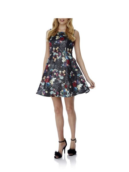 Yumi Winter Floral Print Dress